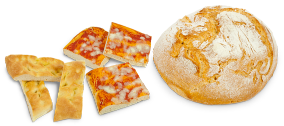 Pane, pizza e focaccia con Lievis+ Antico